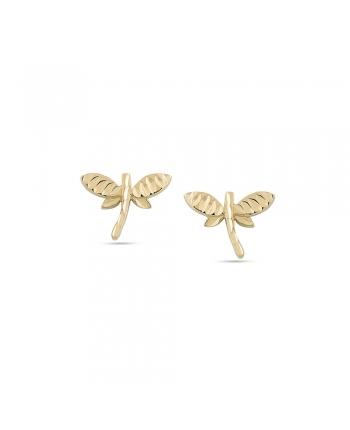 Orecchini Donna Ambrosia Gioielli Oro Giallo Libellula AOZ360