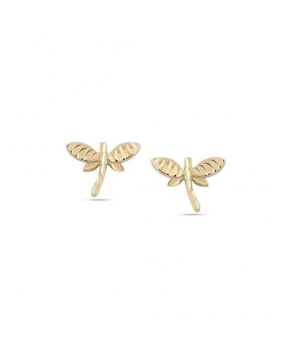 Orecchini Donna Ambrosia Gioielli Libellula Oro Giallo AOZ360