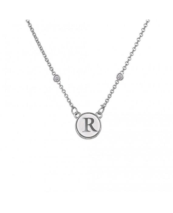 Collana Personalizzabile Donna Osa Jewels Name Collection Lettera  12 mm