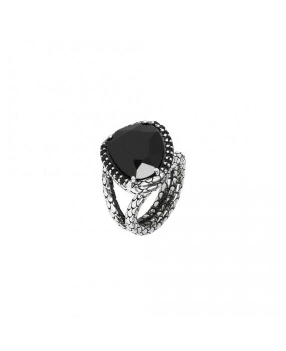 Anello Donna Albert M. Mistero Maxi Sirena Black Spinel WSOX00045.BS
