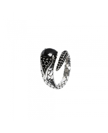 Anello Donna Albert M. Mistero Serpente Black Spinel WSOX00049.BS/18