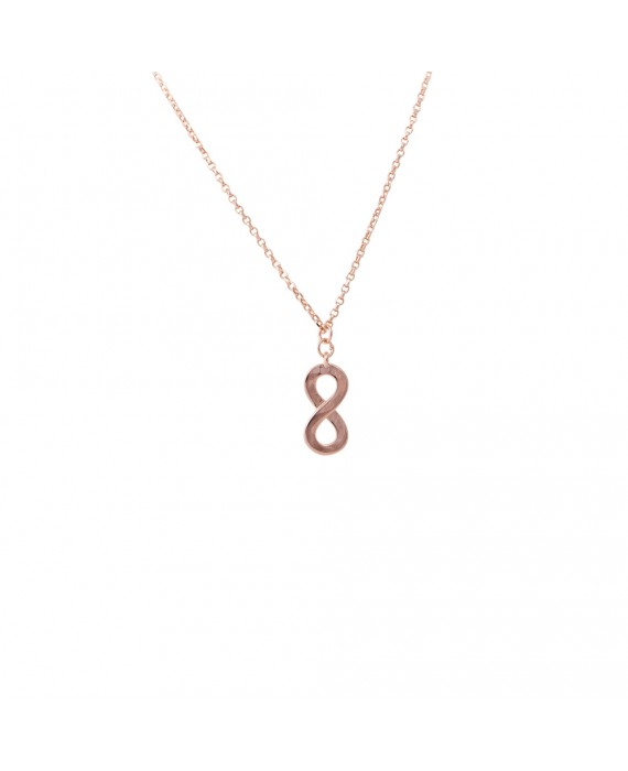 Collana Donna Argento Rose Gold Osa Jewels Mayrose Infinito 8029