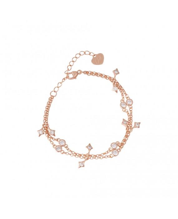 Bracciale Donna Argento Rose Gold Osa Jewels Mayrose 8019