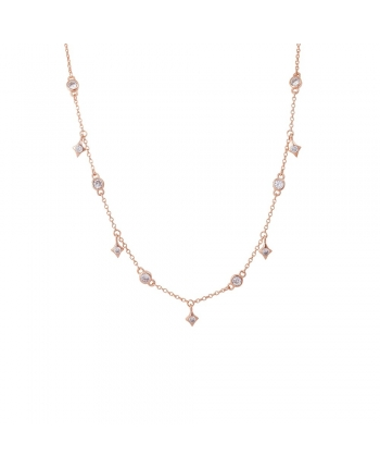 Collana Donna Argento Rose Gold Osa Jewels Mayrose 8021