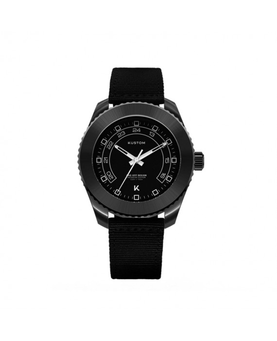 Orologio  Personalizzabile Uomo Kustom Watches 41 mm Total Black Cinturino Nylon
