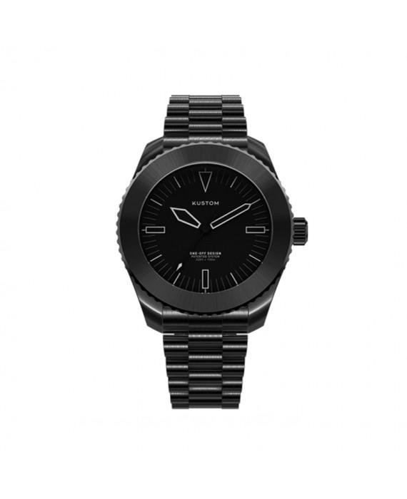 Orologio  Personalizzabile Uomo Kustom Watches 41 mm Acciaio Inox Total Black