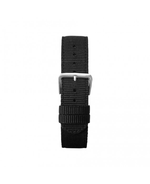 Cinturino Nero Kustom Watches NATO Con Fibbia Silver Opaca ST-B-01