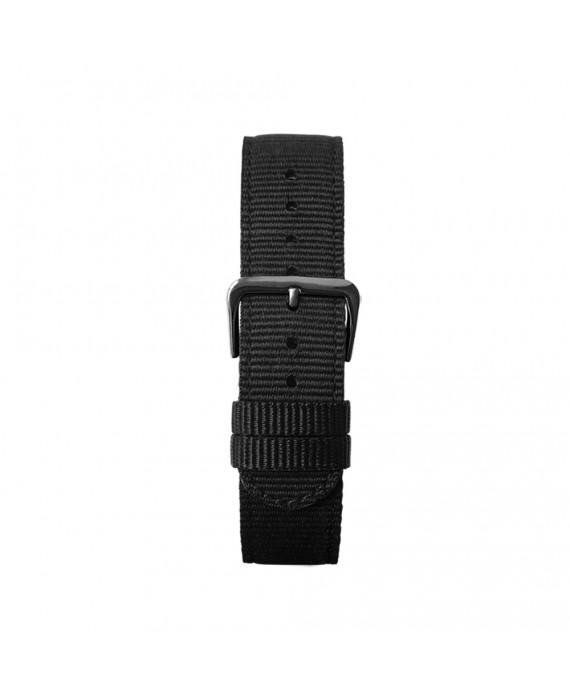Cinturino Nero Kustom Watches NATO Con Fibbia Nera Opaca ST-B-02