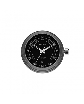 Quadrante Nero 24H Orologio Kustom Watches Silver DI-B-01