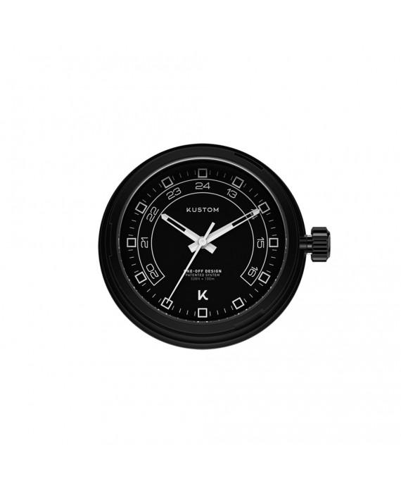 Quadrante Nero 24H Orologio Kustom Watches IP Black DI-B-02