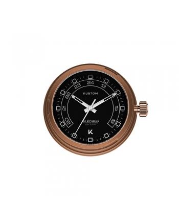 Quadrante Nero 24H Orologio Kustom Watches Rose Gold DI-B-03