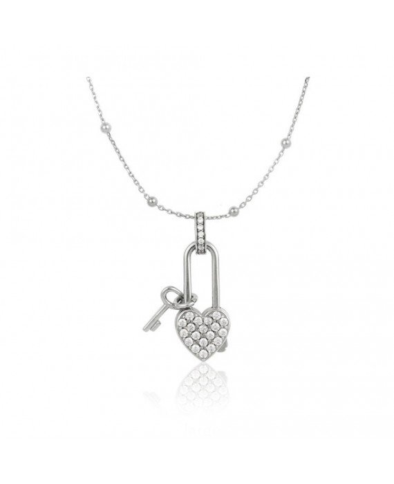 Collana Donna Osa Jewels Keylove Lucchetto Cuore Chiave Large 9910