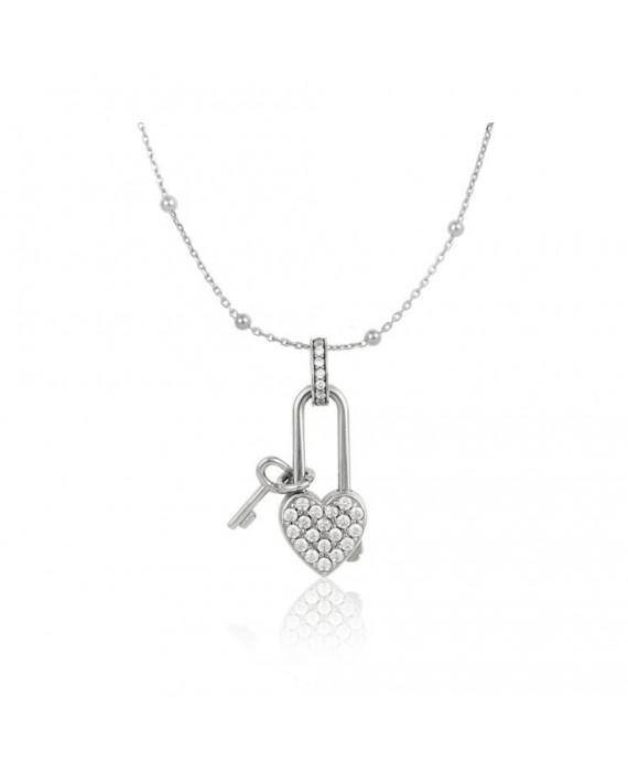 Collana Donna Osa Jewels Keylove Lucchetto Cuore Chiave Medium 9911
