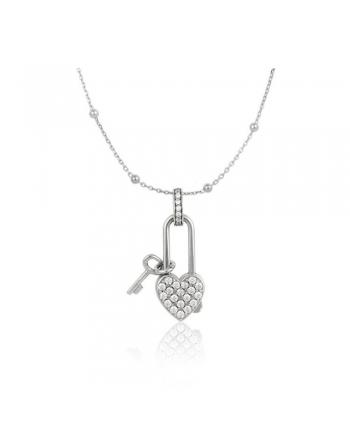 Collana Donna Osa Jewels Keylove Lucchetto Cuore Chiave Small 9912