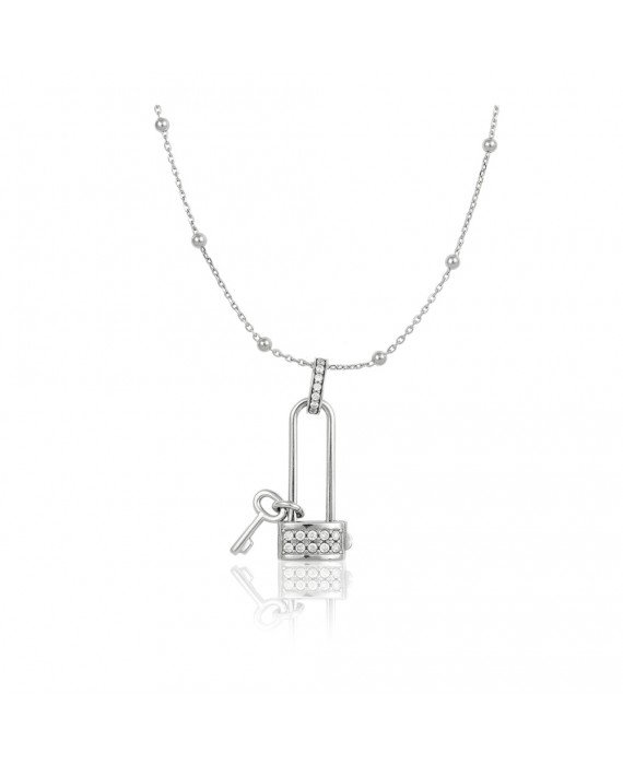 Collana Donna Osa Jewels Keylove Lucchetto Cuore Chiave Large 9900