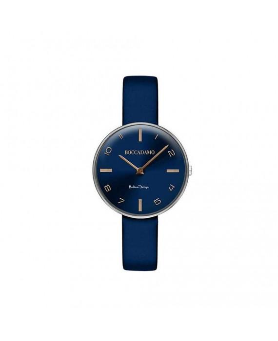 Orologio Solotempo Donna Boccadamo Time Pin Up Blu PU008