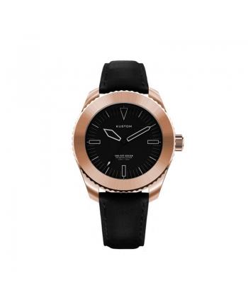 Orologio  Personalizzabile Uomo Kustom Watches 41 mm Quadrante Nero Cinturino Vera Pelle
