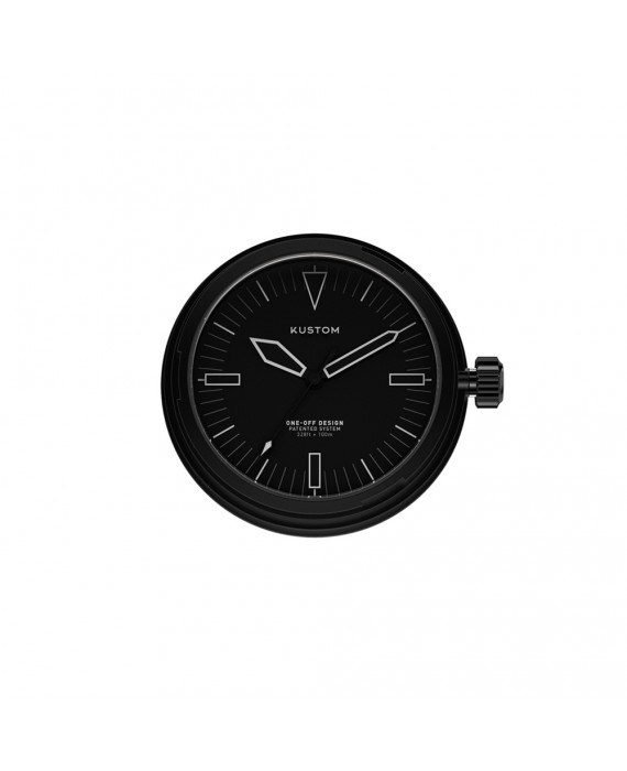 Quadrante Nero Orologio Kustom Watches IP Black DI-A-02