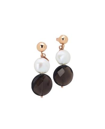 Orecchini Donna Boccadamo Jewels Argento Rosè Perlamia OR739RS