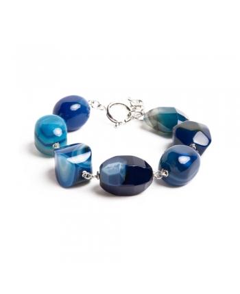 Bracciale Donna Della ROvere Gioielli Argento Sodalite Blu BMDRM120626A131R