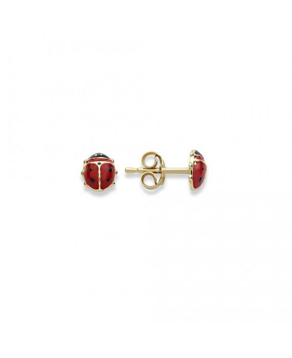 Orecchini Donna Ambrosia Gioielli Oro Giallo Coccinelle AOZ415