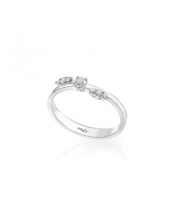 Anello Donna Mey Jewels Oro Bianco Diamanti Basic Collection AN MEY/BOW-AW