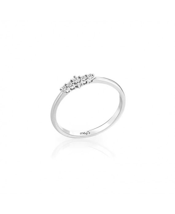 Anello Donna Mey Jewels Oro Bianco Diamanti Gioele Collection AN MEY/RIV-W2