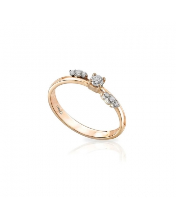 Anello Donna Mey Jewels Oro Bianco Diamanti Basic Collection AN MEY/BOW-AR