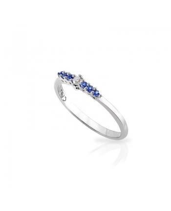 Anello Donna Mey Jewels Basic Collection Oro Bianco Diamante Zaffiri AN MEY/RIV-DZ