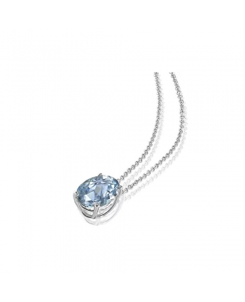 Collana Donna Mey Jewels Basic Collection Oro Bianco Diamanti Acquamarina AN MEY/1ACQ-A