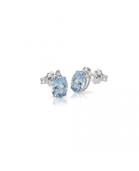Orecchini Donna Mey Jewels Gioele Collection Oro Diamanti Acquamarina OR MEY/1ACQ-A