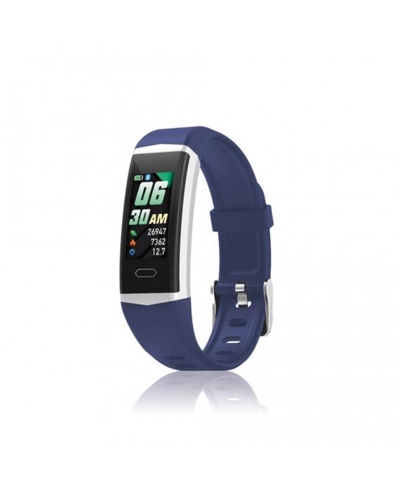Orologio Smartwatch Unisex David Lian Hong Kong Silicone Blu DL122