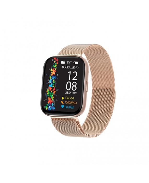 Orologio Smartwatch Unisex Boccadamo Time StartMe Plus Mesh Rosè MP003