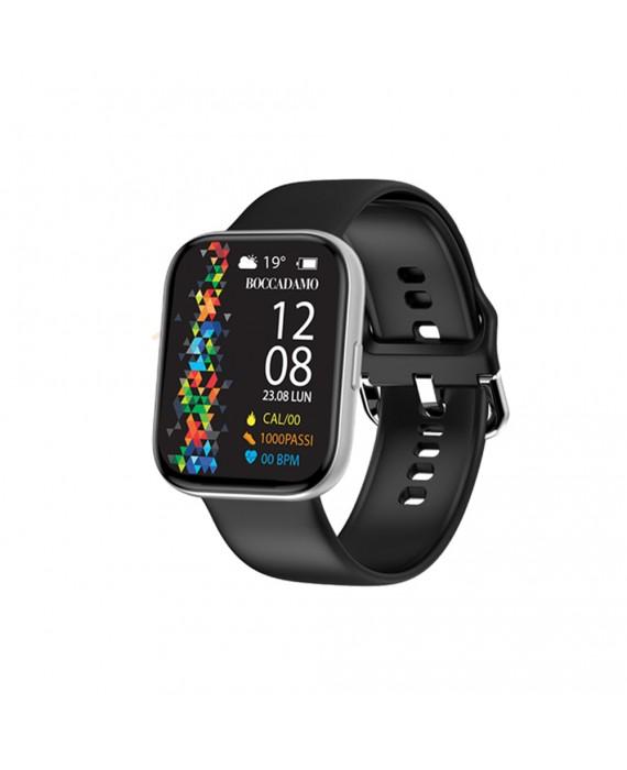 Orologio Smartwatch Unisex Boccadamo Time StartMe Plus Silicone Nero MP006
